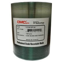CMC Pro Taiyo Yuden 52X Silver Thermal Hub Printable Everest CDR Shrinkwrap- 100pc