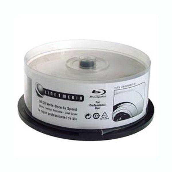 Line 1 Media BR BDXL-4X-100GB-Triple Layer-Inkjet-W-Hub Print Cake Box - 10pc