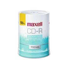 Maxell White Inkjet Printable 700MB 48X CD-R - 100 Pk