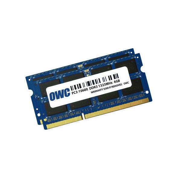 OWC 8GB DDR3 1333 MHz SODIMM Memory Kit