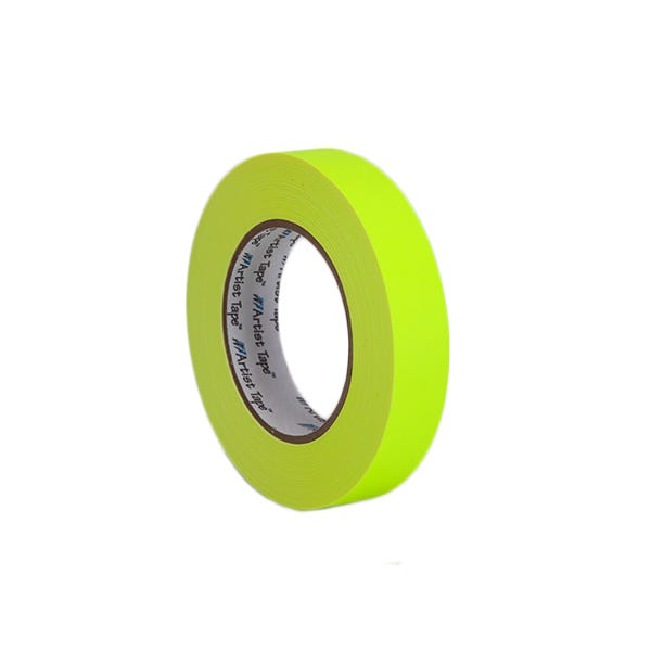 "ProTapes 1"" Artist's Paper Tape - Fluorescent Yellow"