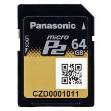 Panasonic microP2 UHS-II Memory Card (Various Memory Capacities)