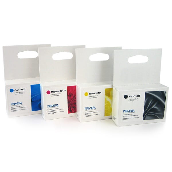 Primera CMYK Ink Cartridge Multipack - High Yield - 53428 Fo