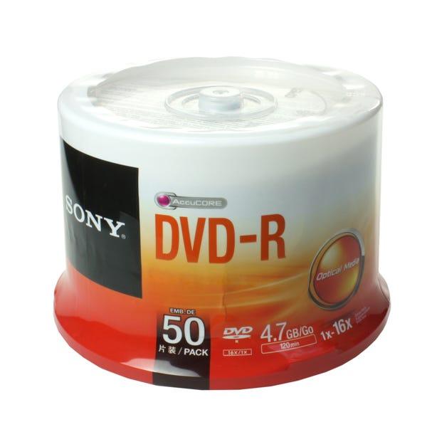 Sony 16X Branded Rewritable 4.7GB DVD+RW in Jewel Case Shrinkwrap - 50pc
