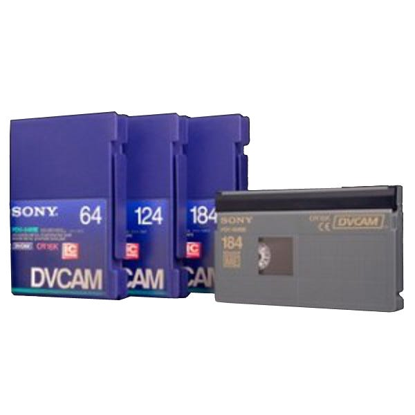 Sony DVCAM - PDV124ME - 124 Minute - Large Cassette Tape wit