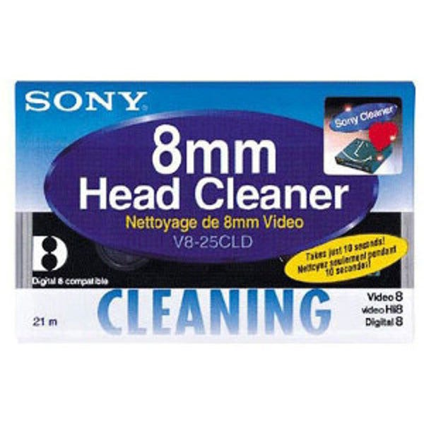 Sony 8mm Hi 8 Digital8  Cleaning Cassette - 200 Cleaning Cyc