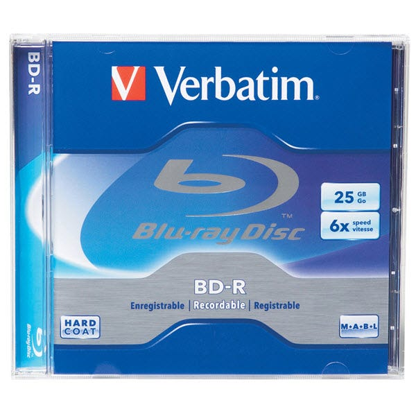 Verbatim 6X Branded 25GB Blu-ray in Jewel Case - 1pc