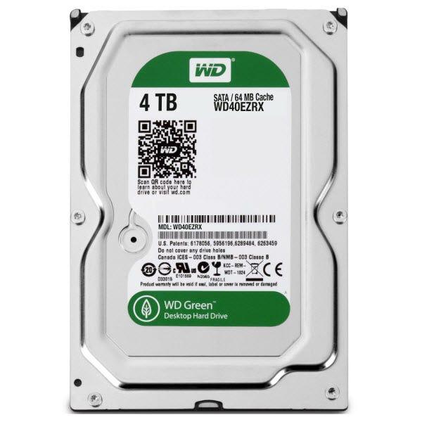"""WD Green WD40EZRX 4 TB 3.5"""" Internal Hard Drive"""