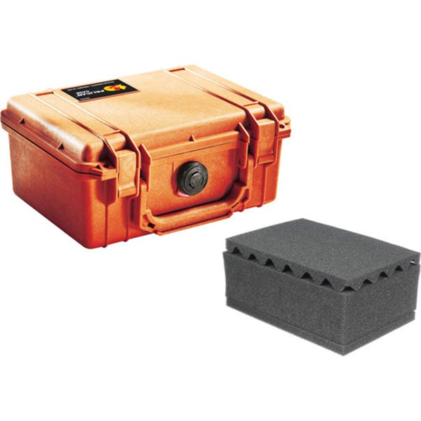 Pelican 1150 Case with Foam - Orange