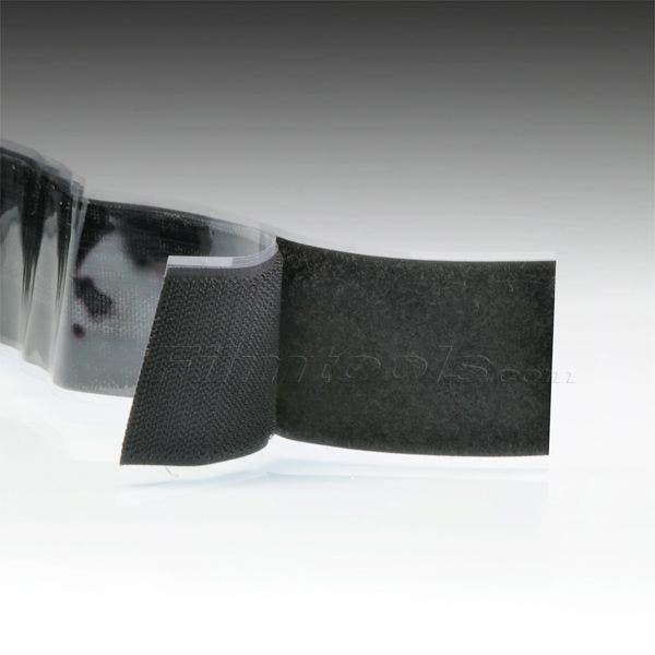 "2"" Black Hook and Loop Adhesive Backed Material - 10 Feet"