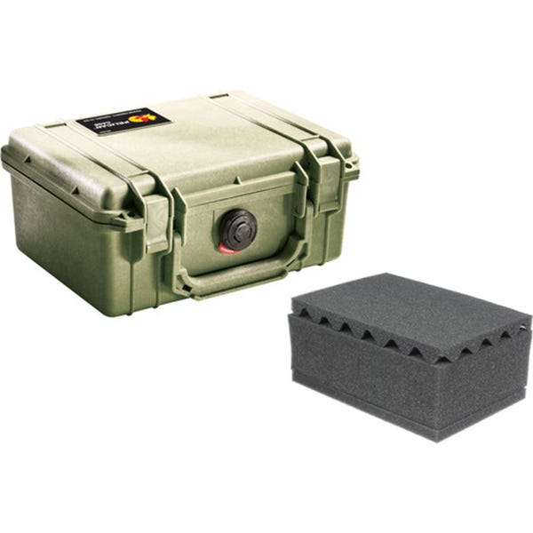 Pelican 1150 Case with Foam - Olive Drab Green