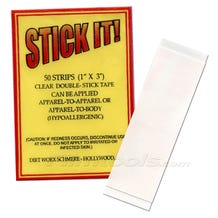 "Stick It! 4002S 1""x3"" Double-Sided Wardrobe Adhesive Tape - 50 Strips"