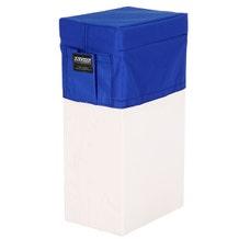 Modern Apple Box Vertical Seat Cover - Blue