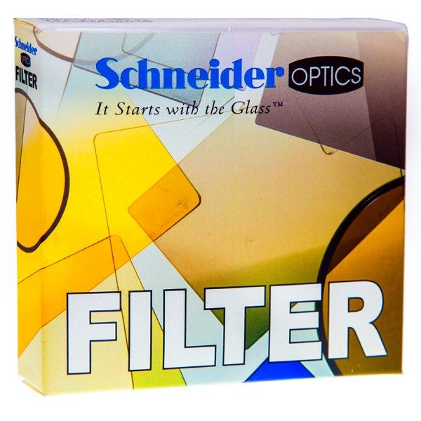 "Schneider Optics 4 x 5.65"" Graduated Neutral Density (ND) Water-White Glass Filter - Hard Edge with Vertical Orientation (Various)"