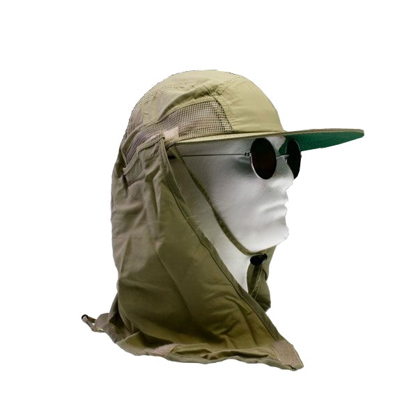 Supplex Performance Khaki Hat w/ Flap by Dorfman Pacific