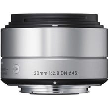 Sigma 30mm f/2.8 DN Lens for Micro Four Thirds Cameras - Silver