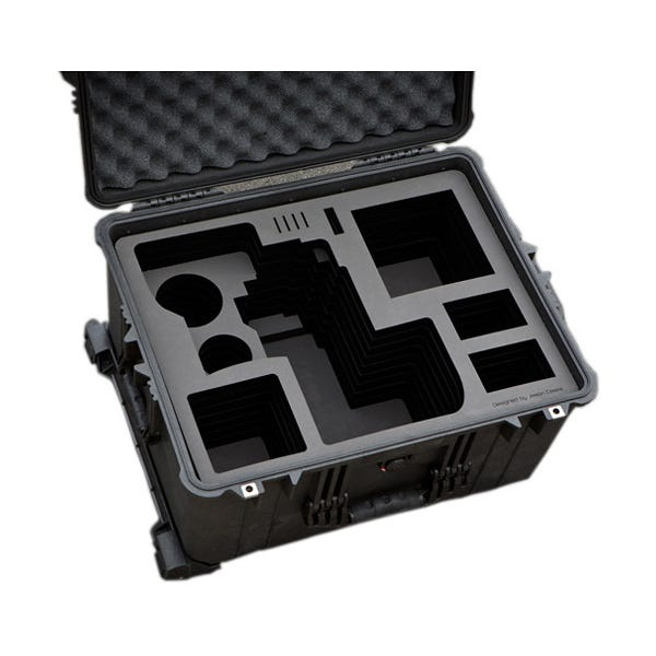 Jason Cases Hard Rolling Case for Sony FS7 Camera & Back Extension Module with Bottomplate