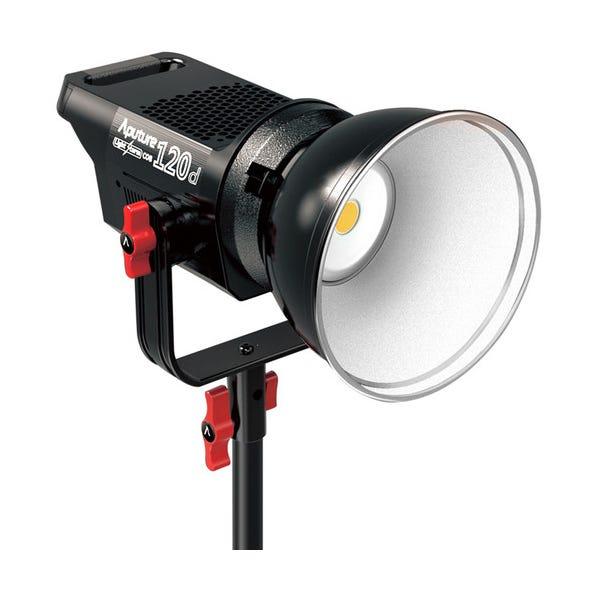 Aputure Light Storm LS C120d Daylight LED Light Kit with Gold Mount Battery Plate