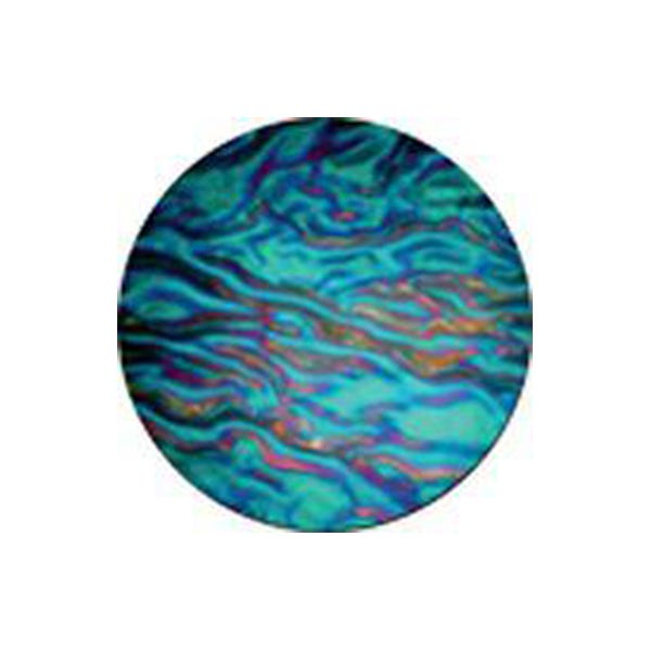 "Rosco 3.4"" Colorwave Effects Color Glass Gobo - #33104 - Cyan Ripple"