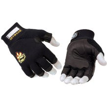 Setwear Black 3/4 Fingerless Leather Gloves - Large