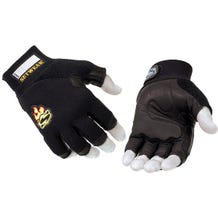Setwear Black 3/4 Fingerless Leather Gloves - Small