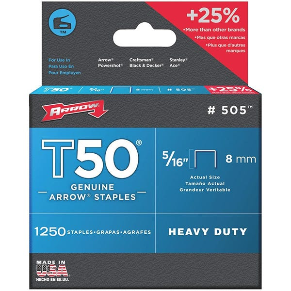 Arrow T50 Staples - 5/16""