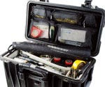 Pelican 1444 Top Loader 1440 Case with Utility Divider - Black