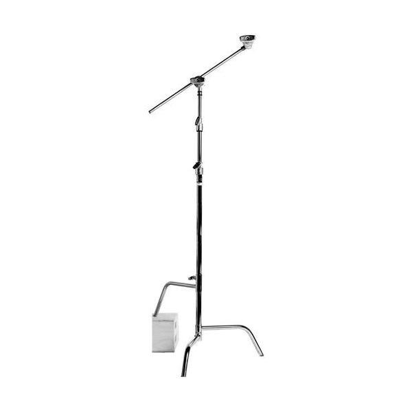 "Matthews Studio Equipment 40"" Chrome Hollywood C-Stand with Sliding Leg, Grip Head & Arm"