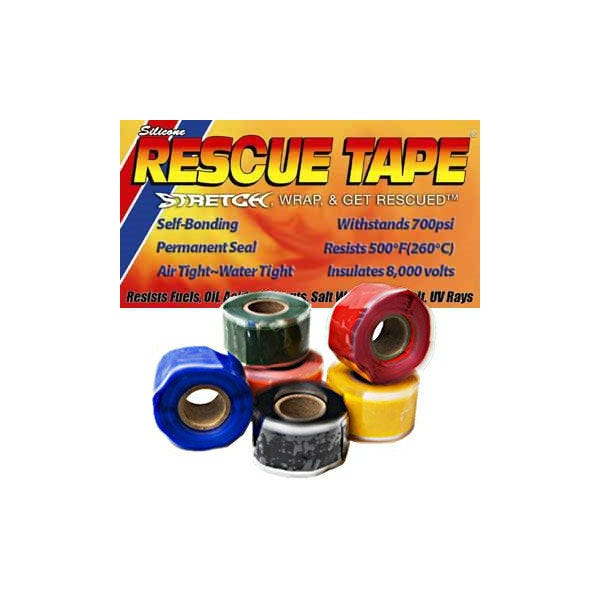 "Rescue Tape 1"" Self Fusing Silicone Waterproof Tape - 6 Colors - 1"" x 12 Feet"