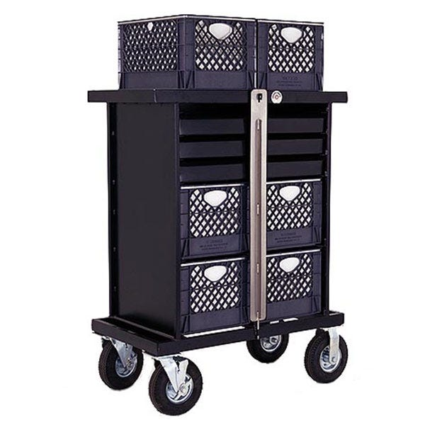Backstage 4 Crate Vertical Set Box Studio / Stage Cart