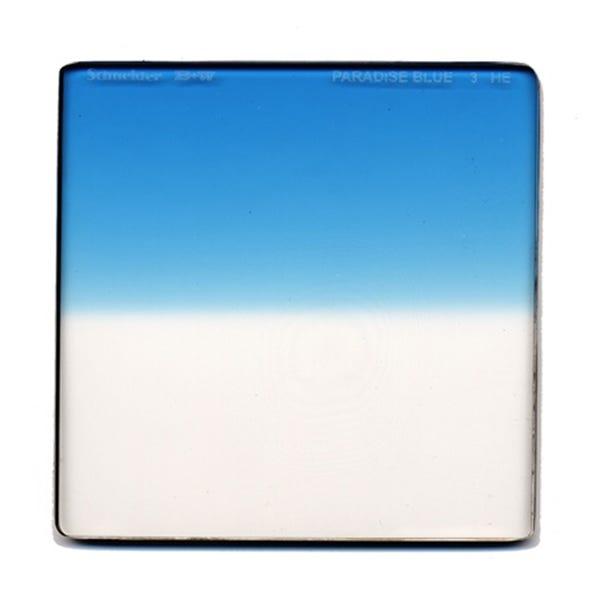"Schneider Optics 6.6 x 6.6"" Graduated Paradise Blue 3 Water White Glass Filter - Soft Edge"