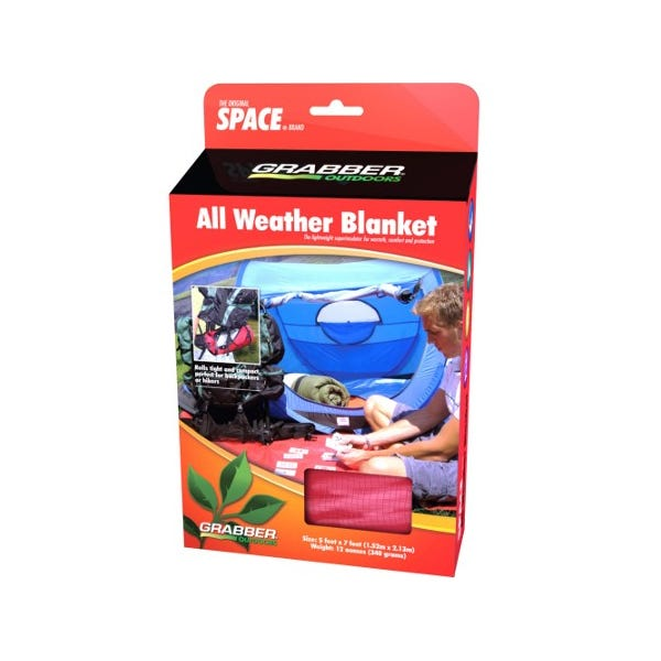 MPI Outdoors Grabber All-Weather Space Blanket - Red