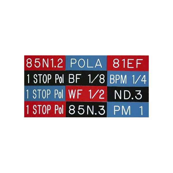 Don Earl 1 Stop Pola Filter Tags - Red