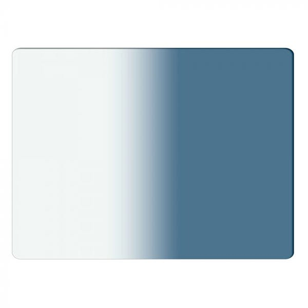 "Schneider Optics 4 x 5.65"" Graduated Sapphire Blue 2 Water White Glass Filter - Soft Edge with Vertical Orientation"
