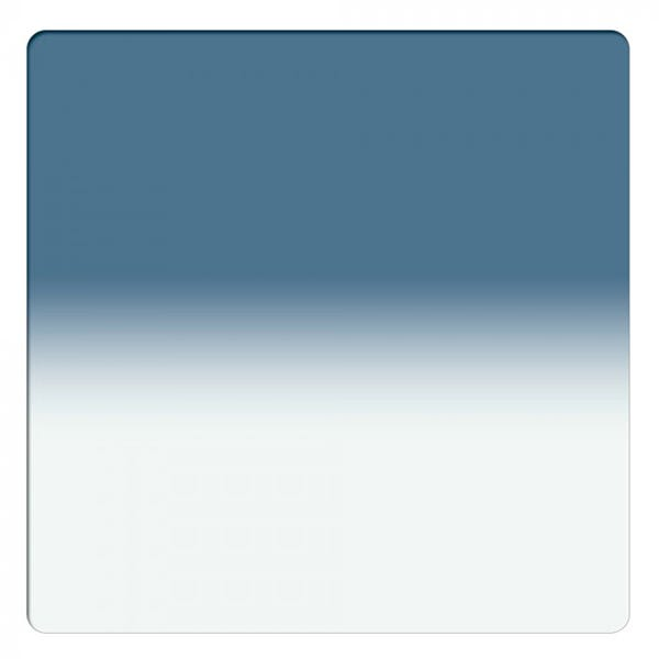"Schneider Optics 6.6 x 6.6"" Graduated Storm Blue 1 Water White Glass Filter - Soft Edge"