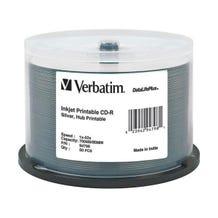Verbatim 52X DataLifePlus Silver Inkjet Printable Hub 700MB CD-R - 50pc