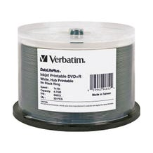 Verbatim 8X DataLifePlus White Inkjet Printable 5.7GB DVD+R - 50pc