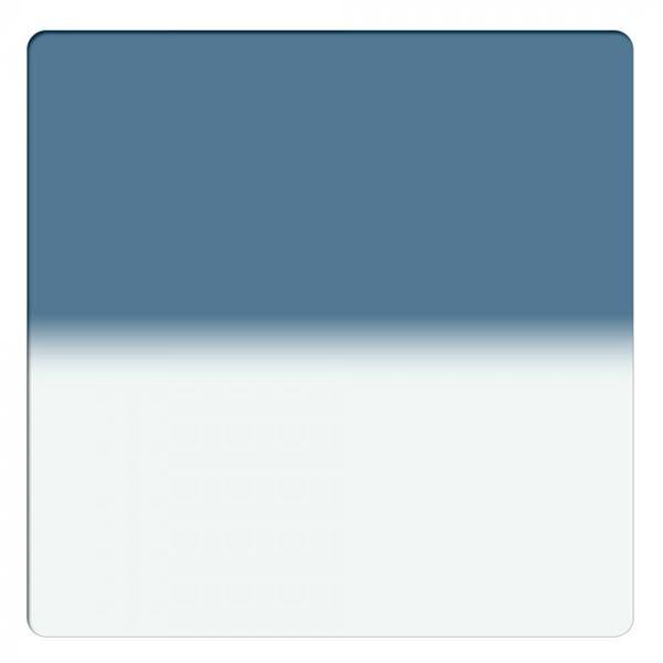 "Schneider Optics 6.6 x 6.6"" Graduated Storm Blue 2 Water White Glass Filter - Hard Edge"
