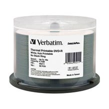 Verbatim 16X White Thermal Printable DVD-R - 50pc