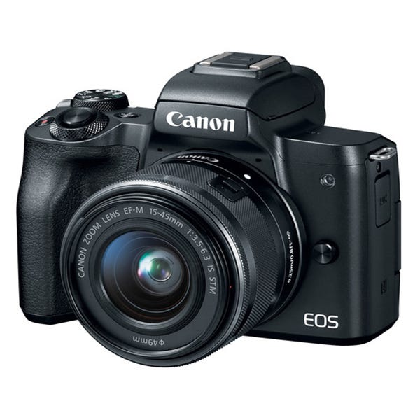 Canon EOS M50 Mirrorless Digital Camera with 15-45mm Lens (Various Colors)