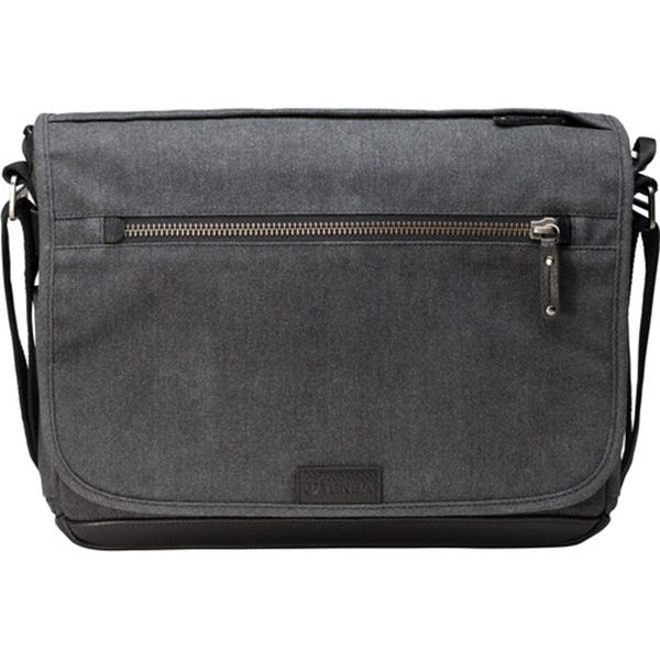 Tenba Cooper 13 Slim Messenger Bag with Leather Accents - Grey