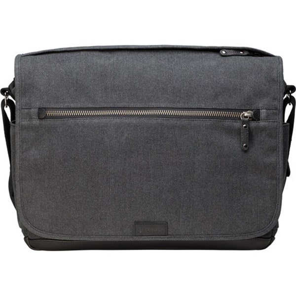 Tenba Cooper 15 Messenger Bag with Leather Accents - Grey