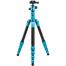 MeFoto BackPacker S Carbon Fiber Travel Tripod - Blue