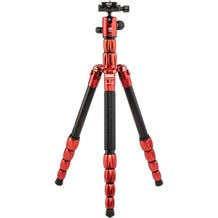 MeFoto BackPacker S Carbon Fiber Travel Tripod - Red