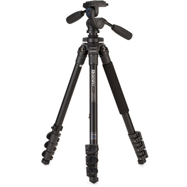 Benro TAD18AHD1 Series 1 Adventure Aluminum Tripod with HD1 3-Way Pan/Tilt Head