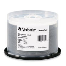 Verbatim 6X White Inkjet Printable 25GB Blu-Ray - 50pc