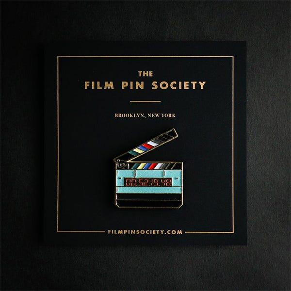 Film Pin Society Timecode Slate Enamel Pin
