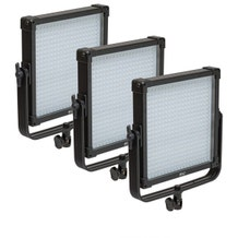 F&V Lighting K4000 SE Daylight 1x1 LED Studio Panel 3-Light Kit w/ 7' Collapsible Light Stands