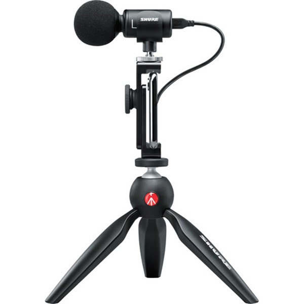 Shure MOTIV MV88+ Video Kit - Digital Stereo Condenser Microphone and Accessories for Smartphones (iOS, Android)