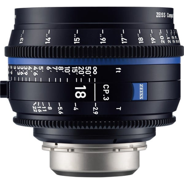 Zeiss CP.3 18mm T2.9 Compact Prime Lens - EF Mount